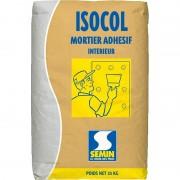 Mortier ISOCOL MORTIER SEMIN colle plaque de plâtre 25 kg