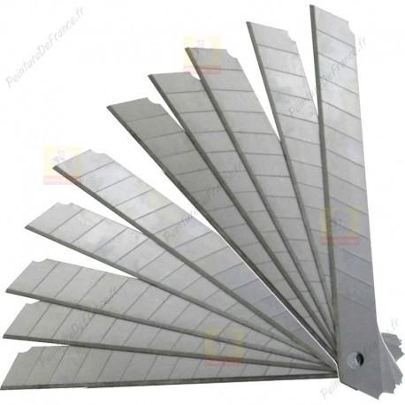 Lames X10 de 9 mm pour petit cutter vendu avec étui plastique