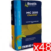 Colle mortier BOSTIK MC 200 pour Sols et murs BLANC 25 Kg X48