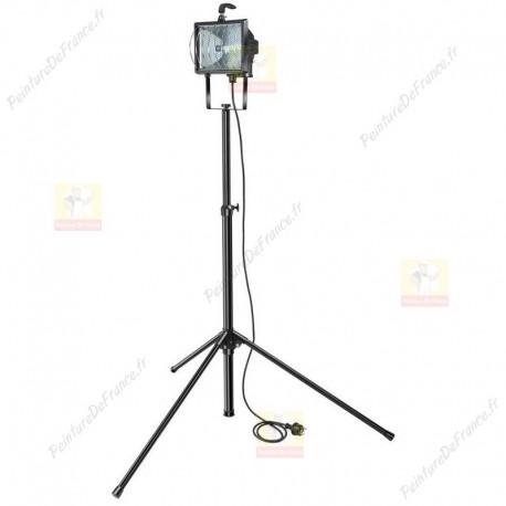 Projecteur halogène sur trépied télescopique de 400 W et 8550 lumens