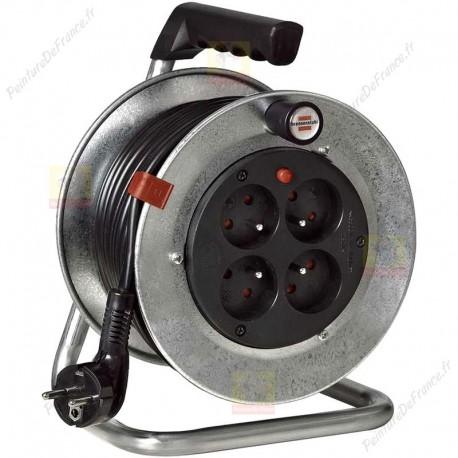 Enrouleur de câble Silver en acier galvanisé câble de 15 m