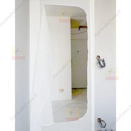 Porte sas anti-poussière pour chantier avec double face fourni 100 X 215 cm