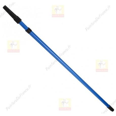 Perche télescopique en acier léger et robuste réglable par rotation de 1 à 2 m