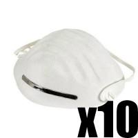 Lot de 10 masques de protections respiratoires