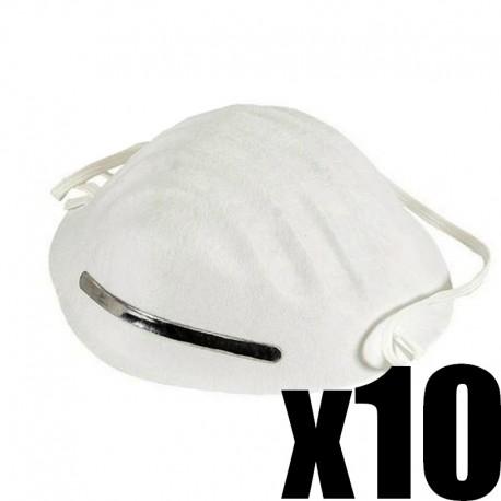 lot de 10 masques respiratoires