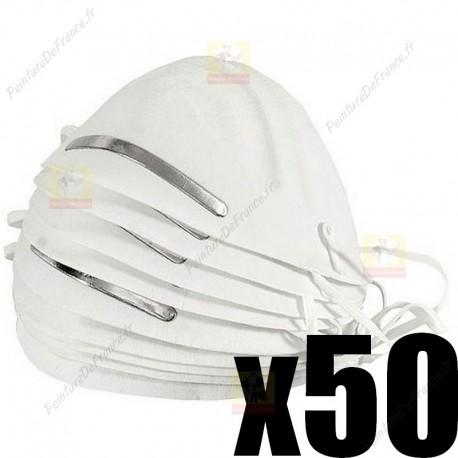Lot de 50 masques de protection FFP1 EN 149
