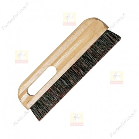 Brosse de tapissier poils de soie grise 300 mm