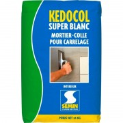 Colle carrelage KEDOCOL SUPER BLANC Mortier traditionnel d'excellente qualité 25kg
