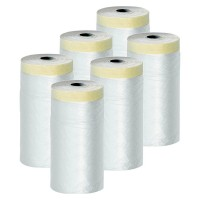 Lot de 6 films protections + adhésif surfaces lisses 180 cm x 33 m