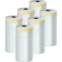 lot de 6 films protections + adhésif surfaces lisses 270 cm x 17 m