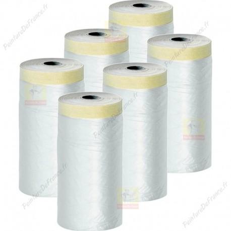 lot de 6 films protections + adhésif surfaces lisses 270 cm x 17 m