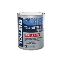 Laque antirouille TOLLENS professionnelle Toll-Métaux Hydro Brillant tendue