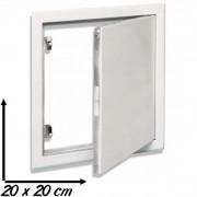 Trappe de visite métallique blanc laqué SEMIN 20 x 20 cm