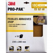 Feuilles abrasives x10 3M Flexible et résistant finition optimale