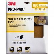 Feuilles abrasives x10 3M Flexible et résistant finition optimale
