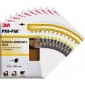 Feuilles abrasives 3M X100 Flexible et résistant finition optimale P180 (10 paquets de 10)