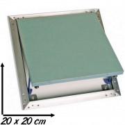 Trappe de visite aluminium et plaque de plâtre hydrofuge SEMIN spéciale pièces humides