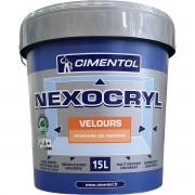 Peinture CIMENTOL Nexocryl Velours BLANC 15L