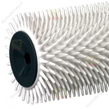 Rouleau debulleur à pointes rigide ROTA! picots en plastique pour débuller peintures, résine, ragréage et chape L.250 mm zoom