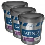 Pack de 3 Peinture GUITTET Satinéa Velours BLANC 15L