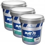 Lot de 3 Peintures GUITTET Mat 78 Hydroplus BLANC 15L