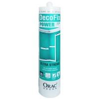 Colle ultra forte pour pose de grandes moulures ou surfaces non poreuses ou pièces humides ORAC DecoFix POWER 290 ml