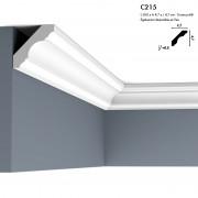 Corniche ORAC C215 figure linéaire et symétrique s'adapte à tous les intérieurs 2 m