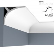 Corniche ORAC C991 contemporaine, peut être posé dans les 2 sens 2 m