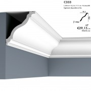 Corniche ORAC C333 courbe élégante et classique en col de cygne 2 m