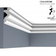 Corniche ORAC C324 AUTOIRE modèle recourbé avec l'option d'éclairage LED 2 m