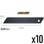 Lames Black cutter OLFA usage intensif et polyvalent vendu en étui 10 lames - 18 mm