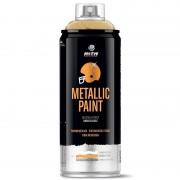 Peinture en aérosol métallisée MTN PRO professionnelle 400 ml gold