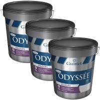 Pack de 3 Peintures GUITTET Odyssée Velours BLANC 15L