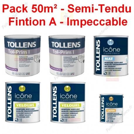Pack 50m² Peinture Tollens Finition A - Soignée
