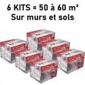 6 Kits complets de béton ciré TERRAZZO trafic intense pour 50 à 60 m²