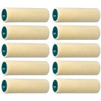 VELOURS étui de 10 petits rouleaux ROTA Laqueur Travaux soignés, Aspect tendu, Pure laine 4 mm