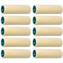 VELOURS étui de 10 petits rouleaux ROTA Laqueur Travaux soignés et tendu, Pure laine 4 mm