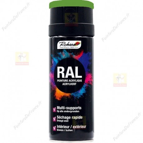 Aérosol RAL peinture acrylique RICHARD multi-supports 400 ml RAL 6018