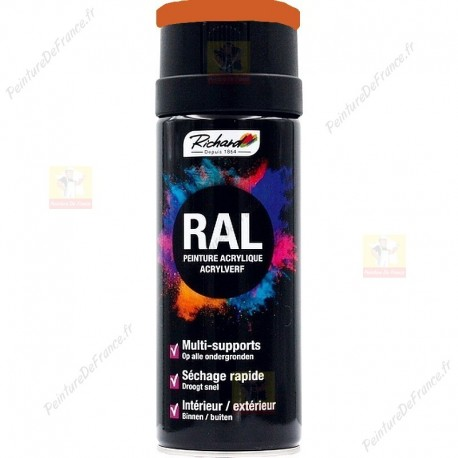 Aérosol RAL peinture acrylique RICHARD multi-supports 400 ml RAL 2010