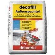 Enduit résiné et fibré DECOTRIC decofill Enduit Extérieur rebouchage, dégrossissage et lissage