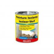 Peinture Isolante DECOTRIC anti-humidité, isole taches d'eau, nicotine, suie et tanin BLANC 750 ML