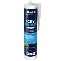 Mastic Acryl BOSTIK d'étanchéité spécial peinture 310 ml