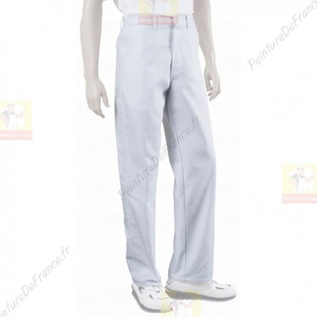 Pantalon peintre BLANC polyester et coton