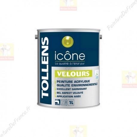Peinture TOLLENS Icône Velours BLANC 1L