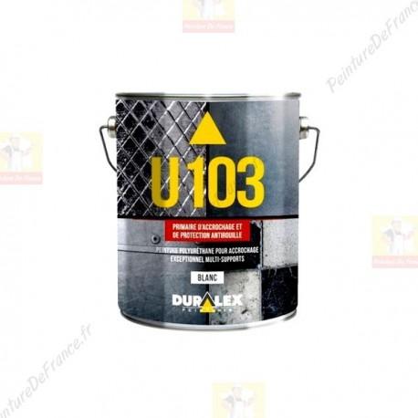 Primaire et Mat DURALEX U103 accrochage et protection antirouille BLANC 1L