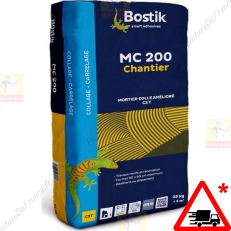 Colle mortier BOSTIK MC 200 pour Sols et murs gris 25 Kg