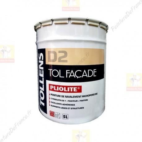 Peinture de ravalement TOLLENS Tol Façade Pliolite 5L